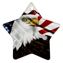 American Eagle Flag Sticker Symbol Of The Americans Star Ornament (two Sides)