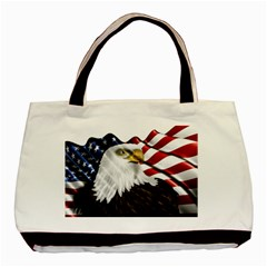 American Eagle Flag Sticker Symbol Of The Americans Basic Tote Bag (two Sides)