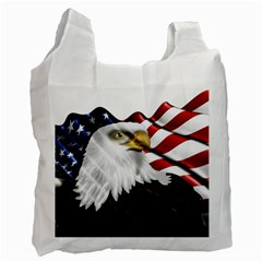 American Eagle Flag Sticker Symbol Of The Americans Recycle Bag (one Side)