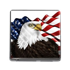 American Eagle Flag Sticker Symbol Of The Americans Memory Card Reader (square)
