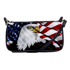 American Eagle Flag Sticker Symbol Of The Americans Shoulder Clutch Bags