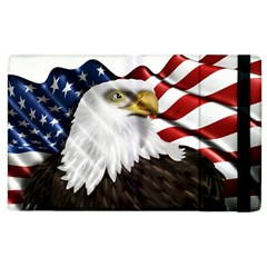 American Eagle Flag Sticker Symbol Of The Americans Apple Ipad 3/4 Flip Case