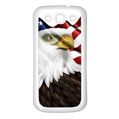 American Eagle Flag Sticker Symbol Of The Americans Samsung Galaxy S3 Back Case (white)