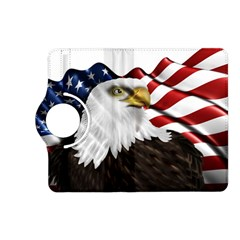 American Eagle Flag Sticker Symbol Of The Americans Kindle Fire Hd (2013) Flip 360 Case