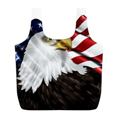 American Eagle Flag Sticker Symbol Of The Americans Full Print Recycle Bags (l)