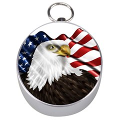 American Eagle Flag Sticker Symbol Of The Americans Silver Compasses