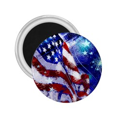 American Flag Red White Blue Fireworks Stars Independence Day 2 25  Magnets