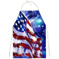 American Flag Red White Blue Fireworks Stars Independence Day Full Print Aprons