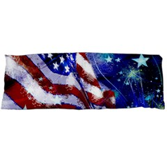 American Flag Red White Blue Fireworks Stars Independence Day Body Pillow Case Dakimakura (two Sides)