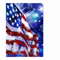 American Flag Red White Blue Fireworks Stars Independence Day Small Garden Flag (two Sides)