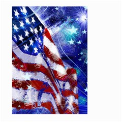 American Flag Red White Blue Fireworks Stars Independence Day Large Garden Flag (two Sides)