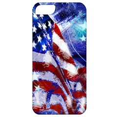 American Flag Red White Blue Fireworks Stars Independence Day Apple Iphone 5 Classic Hardshell Case