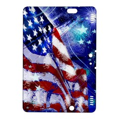 American Flag Red White Blue Fireworks Stars Independence Day Kindle Fire Hdx 8 9  Hardshell Case