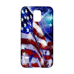 American Flag Red White Blue Fireworks Stars Independence Day Samsung Galaxy S5 Hardshell Case