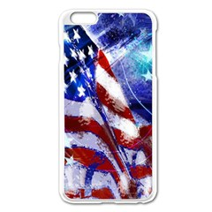 American Flag Red White Blue Fireworks Stars Independence Day Apple Iphone 6 Plus/6s Plus Enamel White Case