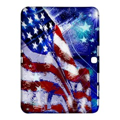 American Flag Red White Blue Fireworks Stars Independence Day Samsung Galaxy Tab 4 (10 1 ) Hardshell Case