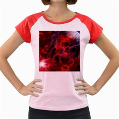Art Space Abstract Red Line Women s Cap Sleeve T Shirt