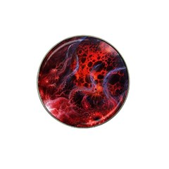 Art Space Abstract Red Line Hat Clip Ball Marker (10 Pack)