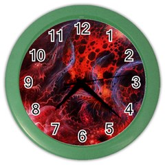 Art Space Abstract Red Line Color Wall Clocks