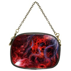 Art Space Abstract Red Line Chain Purses (one Side)