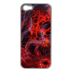 Art Space Abstract Red Line Apple Iphone 5 Case (silver)
