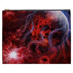 Art Space Abstract Red Line Cosmetic Bag (xxxl)