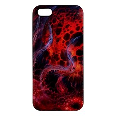 Art Space Abstract Red Line Apple Iphone 5 Premium Hardshell Case