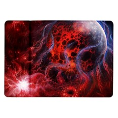 Art Space Abstract Red Line Samsung Galaxy Tab 10 1  P7500 Flip Case