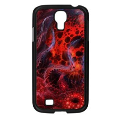 Art Space Abstract Red Line Samsung Galaxy S4 I9500/ I9505 Case (black)