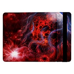 Art Space Abstract Red Line Samsung Galaxy Tab Pro 12 2  Flip Case