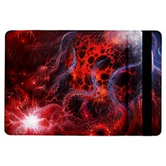 Art Space Abstract Red Line Ipad Air Flip