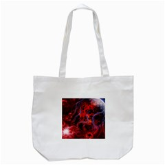 Art Space Abstract Red Line Tote Bag (white)