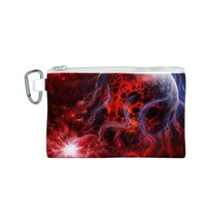 Art Space Abstract Red Line Canvas Cosmetic Bag (s)