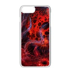Art Space Abstract Red Line Apple Iphone 7 Plus White Seamless Case