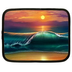 Art Sunset Beach Sea Waves Netbook Case (xl)