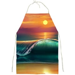 Art Sunset Beach Sea Waves Full Print Aprons