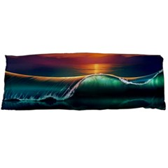Art Sunset Beach Sea Waves Body Pillow Case Dakimakura (two Sides)