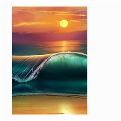 Art Sunset Beach Sea Waves Small Garden Flag (two Sides)