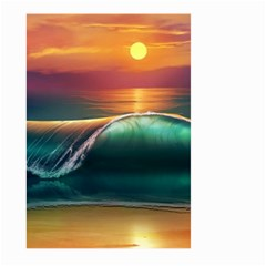 Art Sunset Beach Sea Waves Large Garden Flag (two Sides)