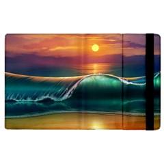 Art Sunset Beach Sea Waves Apple Ipad 3/4 Flip Case