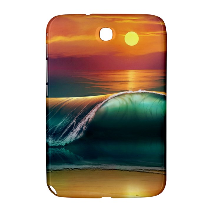 Art Sunset Beach Sea Waves Samsung Galaxy Note 8.0 N5100 Hardshell Case