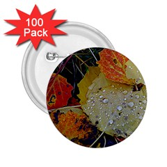 Autumn Rain Yellow Leaves 2 25  Buttons (100 Pack)