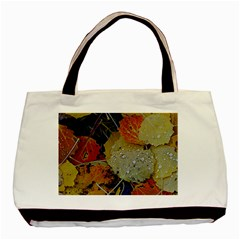 Autumn Rain Yellow Leaves Basic Tote Bag (two Sides)