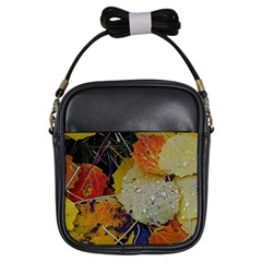 Autumn Rain Yellow Leaves Girls Sling Bags