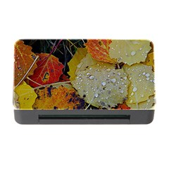 Autumn Rain Yellow Leaves Memory Card Reader With Cf