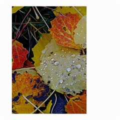 Autumn Rain Yellow Leaves Small Garden Flag (two Sides)