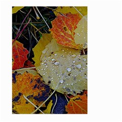 Autumn Rain Yellow Leaves Large Garden Flag (two Sides)
