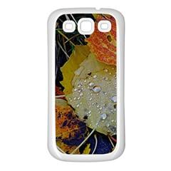 Autumn Rain Yellow Leaves Samsung Galaxy S3 Back Case (white)