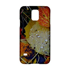 Autumn Rain Yellow Leaves Samsung Galaxy S5 Hardshell Case