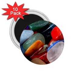 Beautiful Stones In Different Colors Colorful 2 25  Magnets (10 Pack)